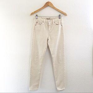 Alexa Chung X AG skinny cream jeans